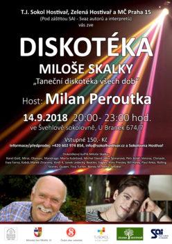Diskotéka Miloše Skalky - host Milan Peroutka